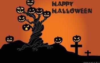 Halloween Tree - Free vector #177499
