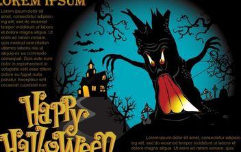Halloween Vector Poster - Free vector #177519