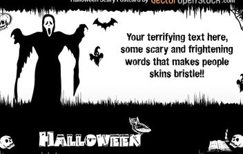 Halloween - Scary Postcard - vector #177539 gratis