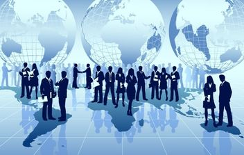 Global business around the world - Free vector #177789