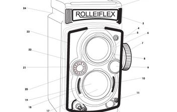 rolleiflex camera - vector gratuit(e) #177839