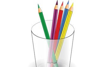 colored pencils - vector gratuit #178169