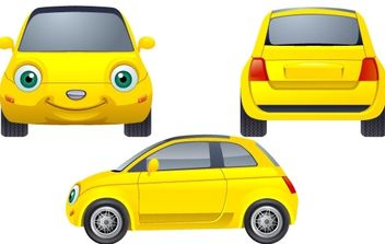 Yellow Car - vector #178179 gratis