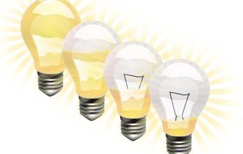 Vector Light Bulbs - vector #178239 gratis