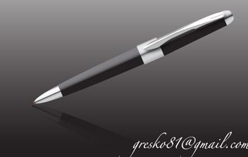 Black pen - vector #178289 gratis