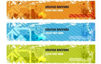 Grunge Banners - Free vector #178329