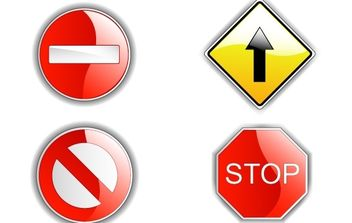 Road Signs - vector gratuit #178369