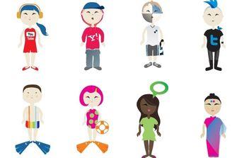 Social Vector Kids - vector #178389 gratis