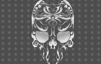 Free Vector Skull Flourish Mexican Touch - Free vector #178609