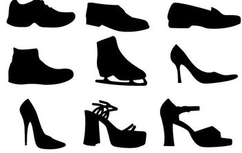 Shoe Vectors Silhouettes - Free vector #178619