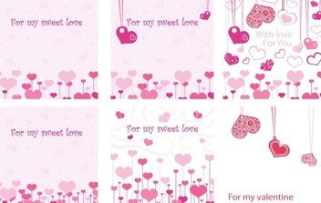 For my Sweet Love Valentine E-Cards Vector - Free vector #178639