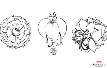 New beautiful vector flowers, part 1 - Free vector #178779