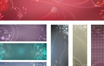 flowery vector backgrounds - vector #178999 gratis