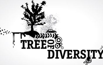 Tree of Diversity - vector #179189 gratis
