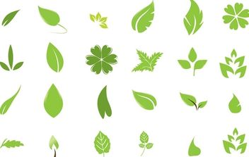 Going Green with Leaves - vector gratuit #179259