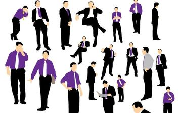 Businessman silhouette - Free vector #179299