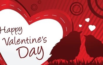 Happy Valentine's day card - Free vector #179409