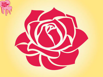 Blooming Red Rose - Free vector #179639