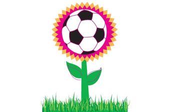 Soccer Flower - бесплатный vector #179669