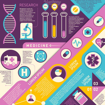 Vintage Colorful Medical Infographic - Free vector #179779