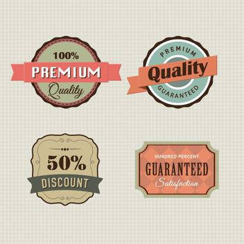 4 Vintage Promotional Label Templates - Free vector #180009