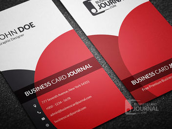 Classy Elegant Vertical Business Card - Free vector #180019