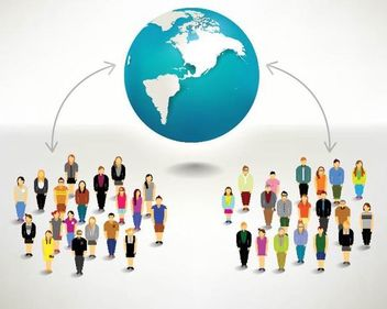 Connected People Globally - vector gratuit #180169