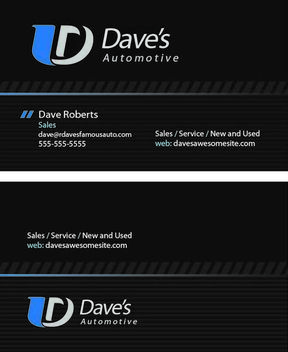 Automotive Dark Business Card - vector gratuit #180179