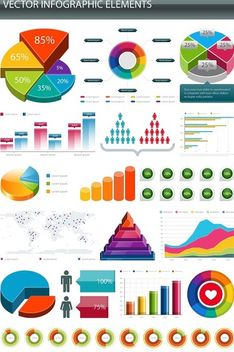 Glossy Colorful Infographic Elements - Free vector #180189