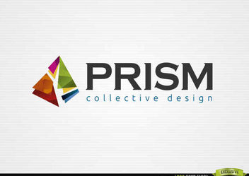 Broken Colorful Prism Logo Design - Free vector #180329