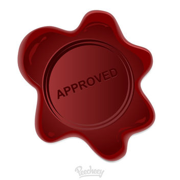 Embossing Approved Wax Stamp - vector #180399 gratis