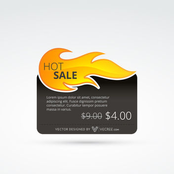 Hot Sale Fire Flame Web Box Template - Free vector #180429