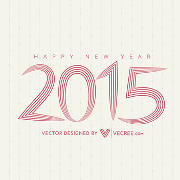 2015 Long Linen Letters Typography - Free vector #180439
