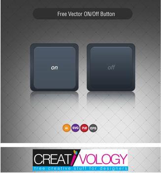 Dark On Off Button - Free vector #180599