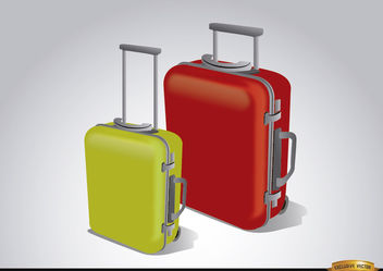 Luggage suitcases to travel - Free vector #180769