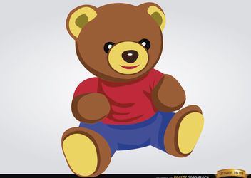 Teddy bear baby toy - vector gratuit #180859