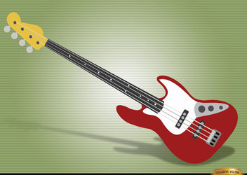 Bass guitar musical instrument - Free vector #180869