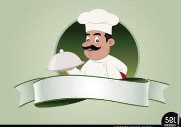 Restaurant Emblem with Chef - Free vector #181119
