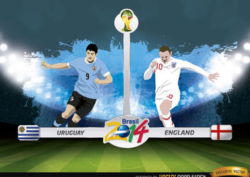 Uruguay vs England Brasil 2014 WorldCup Match - Free vector #181209