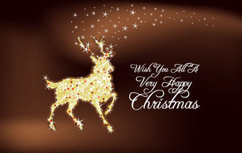 Christmas Deer - Free vector #181229