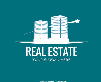 Modern Buildings Real Estate Logo - Free vector #181339