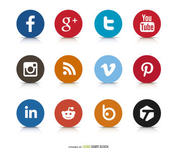 Social Media Icon Logos - vector #181349 gratis