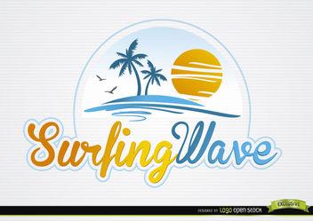 Palms Sun Beach Typography Logo - Kostenloses vector #181379