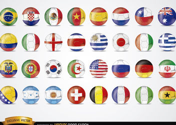 Brazil 2014 Football Worldcup flags - Free vector #181469