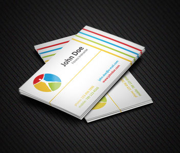 Fitness Business Card Template - vector gratuit #181539