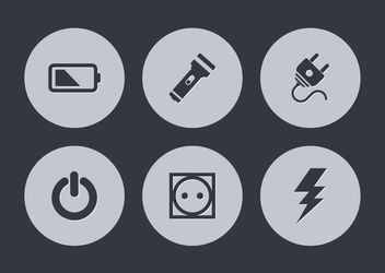 Simplistic Energy & Power Icon Circles - vector gratuit #181599