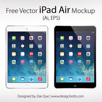 Apple iPad Air Mockup - vector gratuit #181859