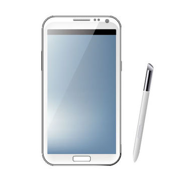 Samsung Galaxy Note2 & Touch Pen - vector #181869 gratis