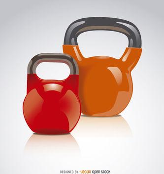 2 Kettlebells red orange - Free vector #181969
