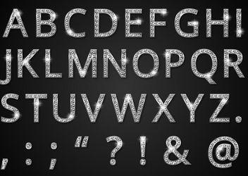 Diamond Style Alphabetic Typeface - Free vector #181979